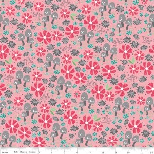 Riley Blake Flora & Fawn Garden Pink  C6731-PINK