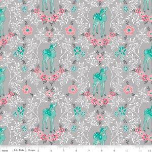 Riley Blake Flora & Fawn Deer Gray C6732-GRAY