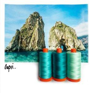 August Aurifil Thread Club - Capri Teal