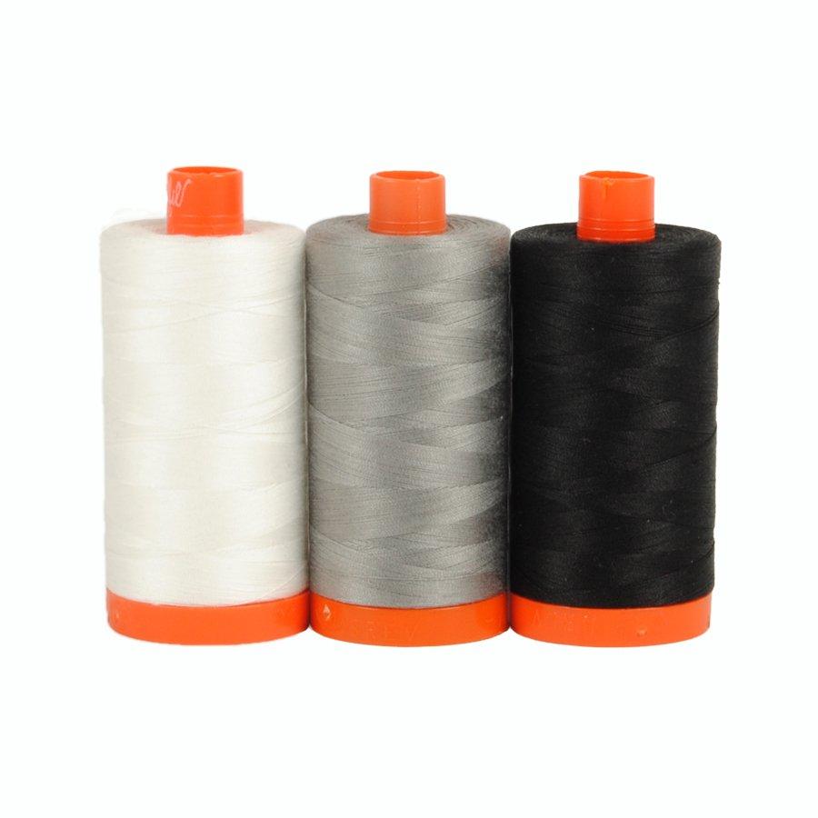 December Aurifil Thread Club - Carrara Black/White