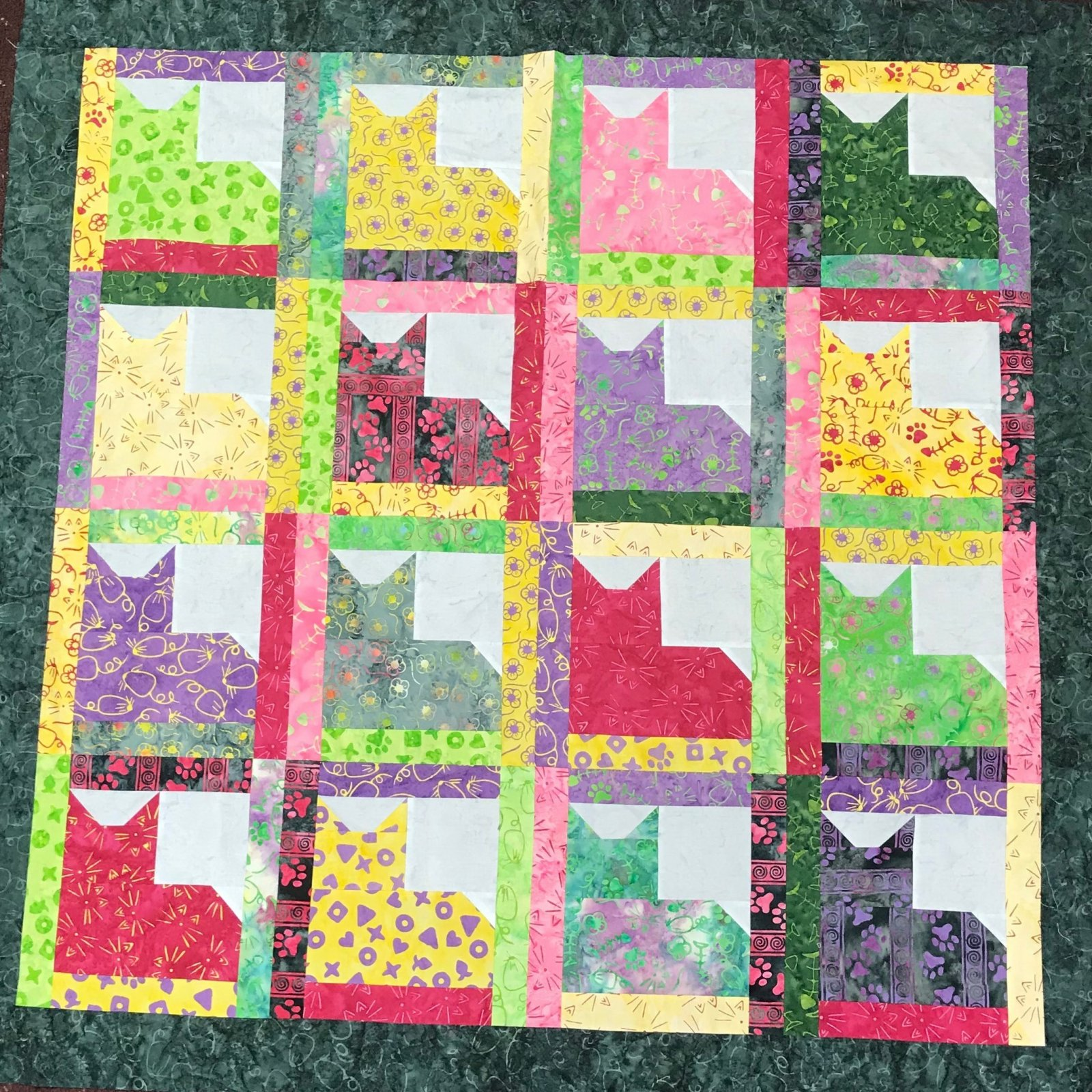 Quilt Basket Cutie Cats Quilt Kit