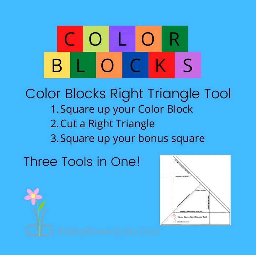 Color Blocks Right Triangle Tool Ruler