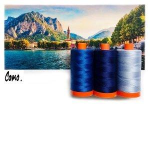 June Aurifil Thread Club - Como Blue