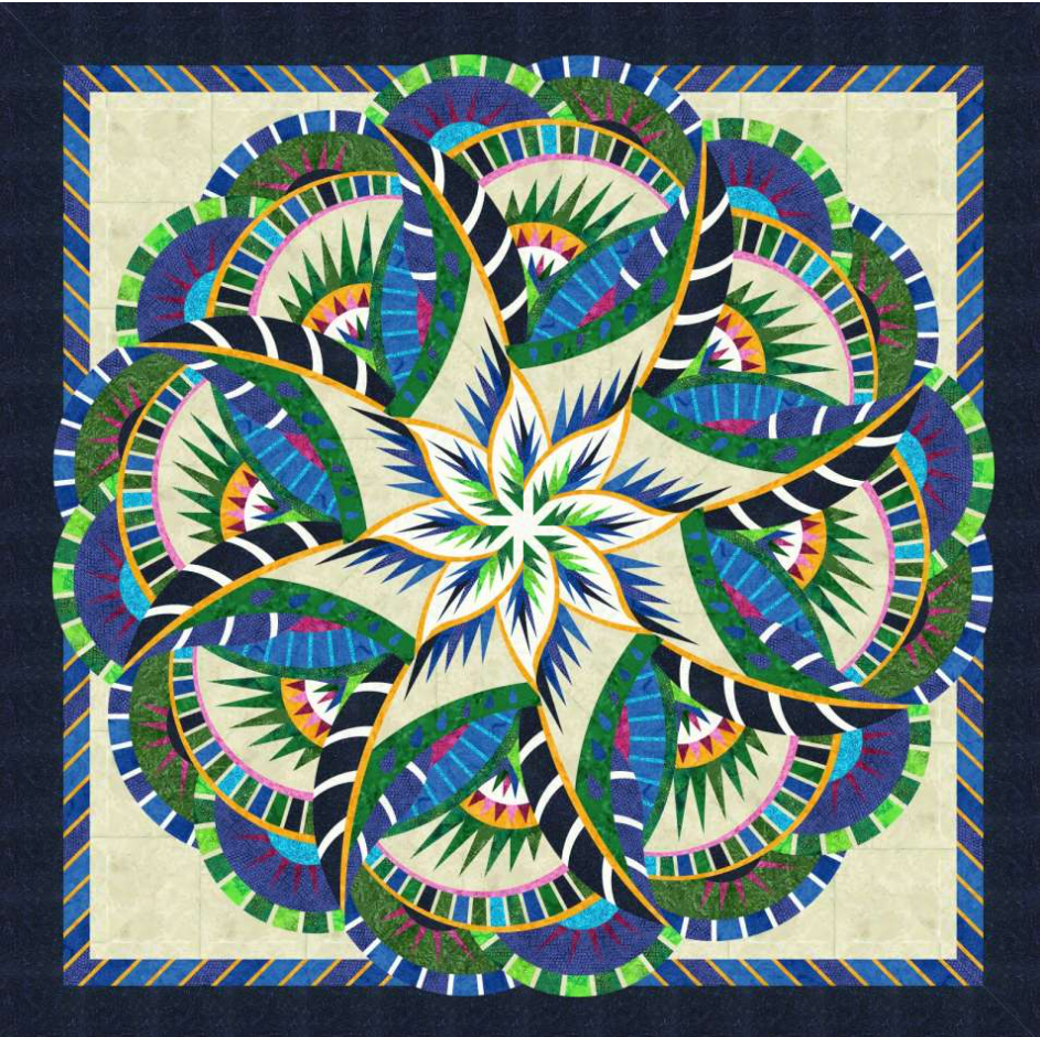 Quiltworx  Coral Reef 2021 Technique of the Month Quilt Kit