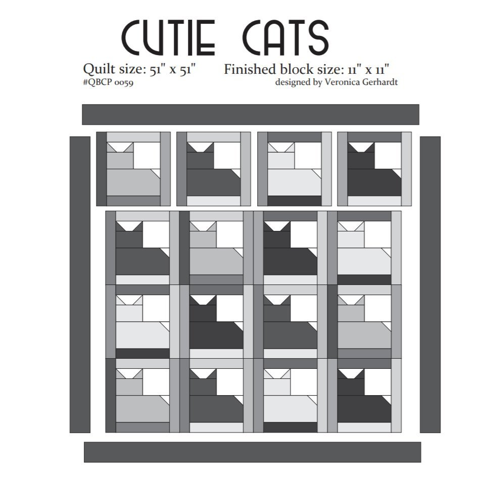 Cutie Pattern Cutie Cats QBCP-0059
