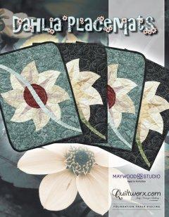 Quiltworx Judy Niemeyer Dahlia Placemats