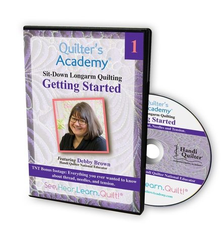 Sit-Down Longarm Quilting Featuring Debby Brown - Vol. 1 Getting Started DVD