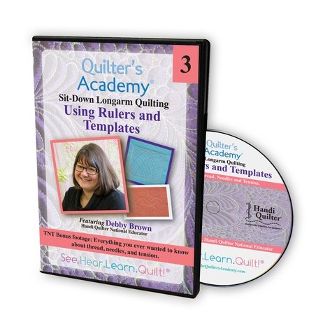 Sit-Down Longarm Quilting Featuring Debby Brown - Vol. 3 Using Rulers and Templates DVD