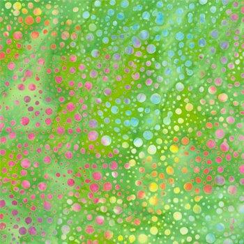Sew Batik 110 Wide Batik Backing Dot Green Flash 10802-1209