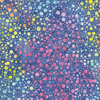 Sew Batik 110 Wide Batik Backing Dot Nautical Blue 10802-1210
