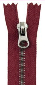 Eclectic Elements Closed End Zipper 9 Red