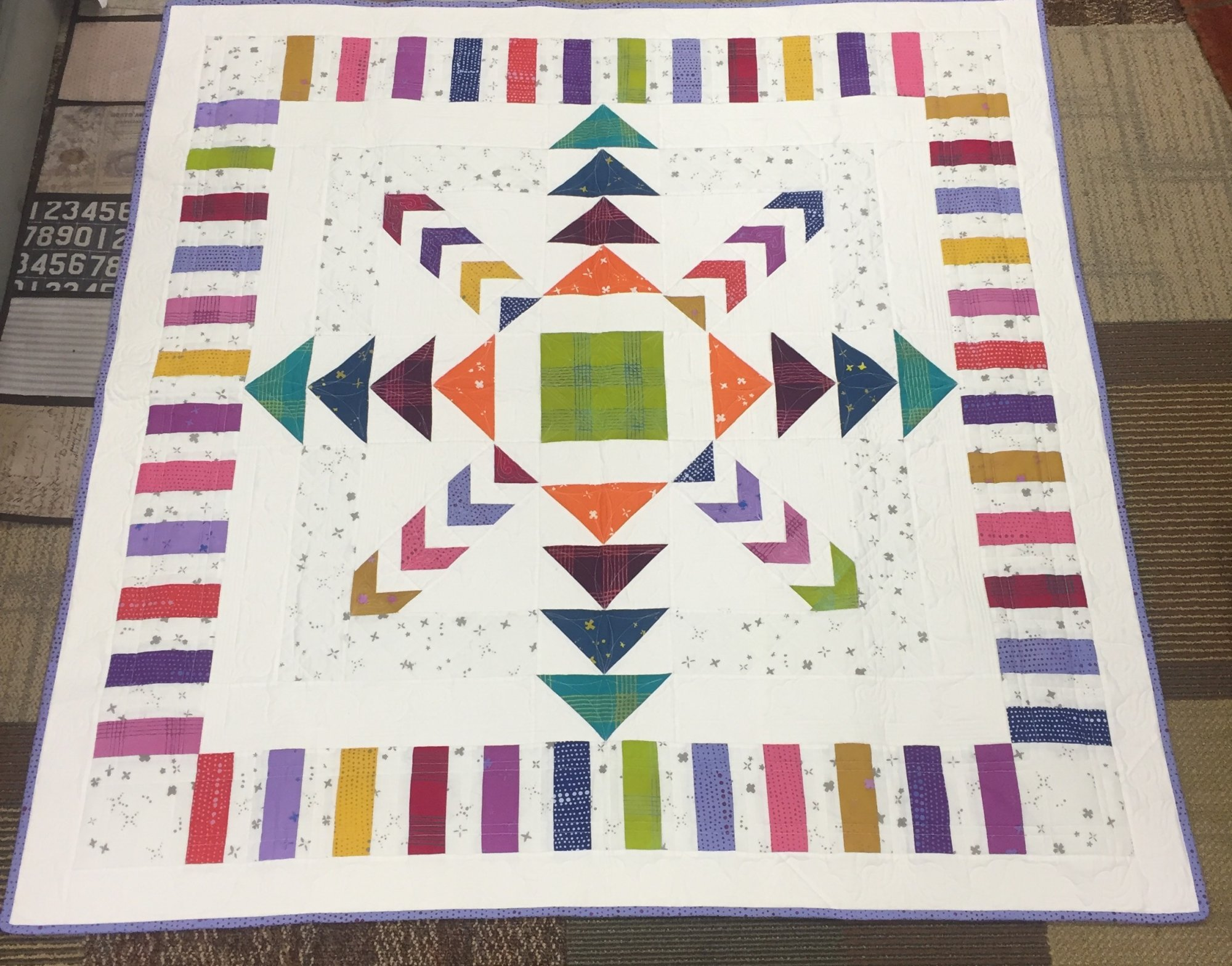 Quilt Basket Every Which Way Chroma Quilt Kit