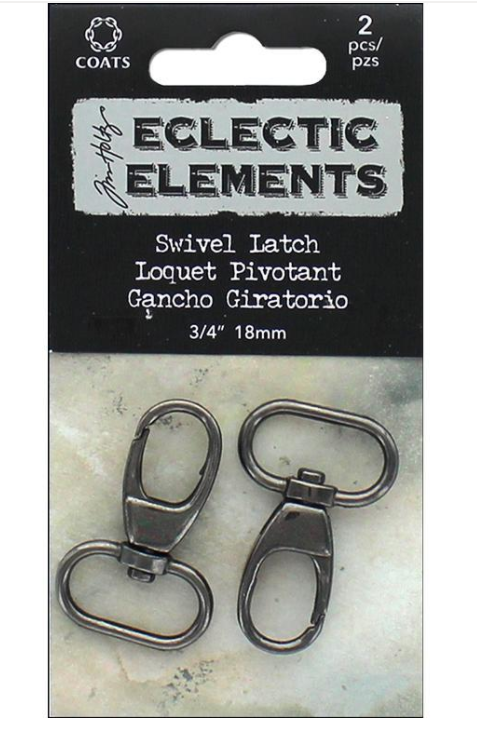 Eclectic Elements 3/4 inch Swivel Latch Gun Metal