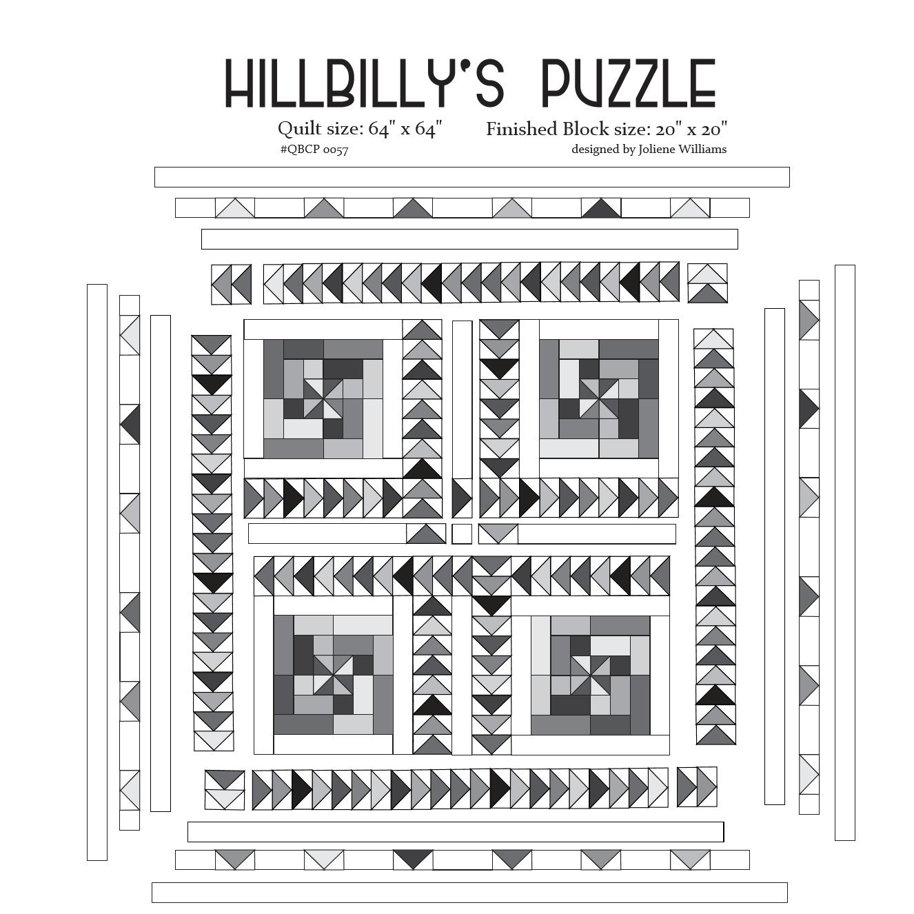 Cutie Pattern HillBilly's Puzzle QBCP-0057