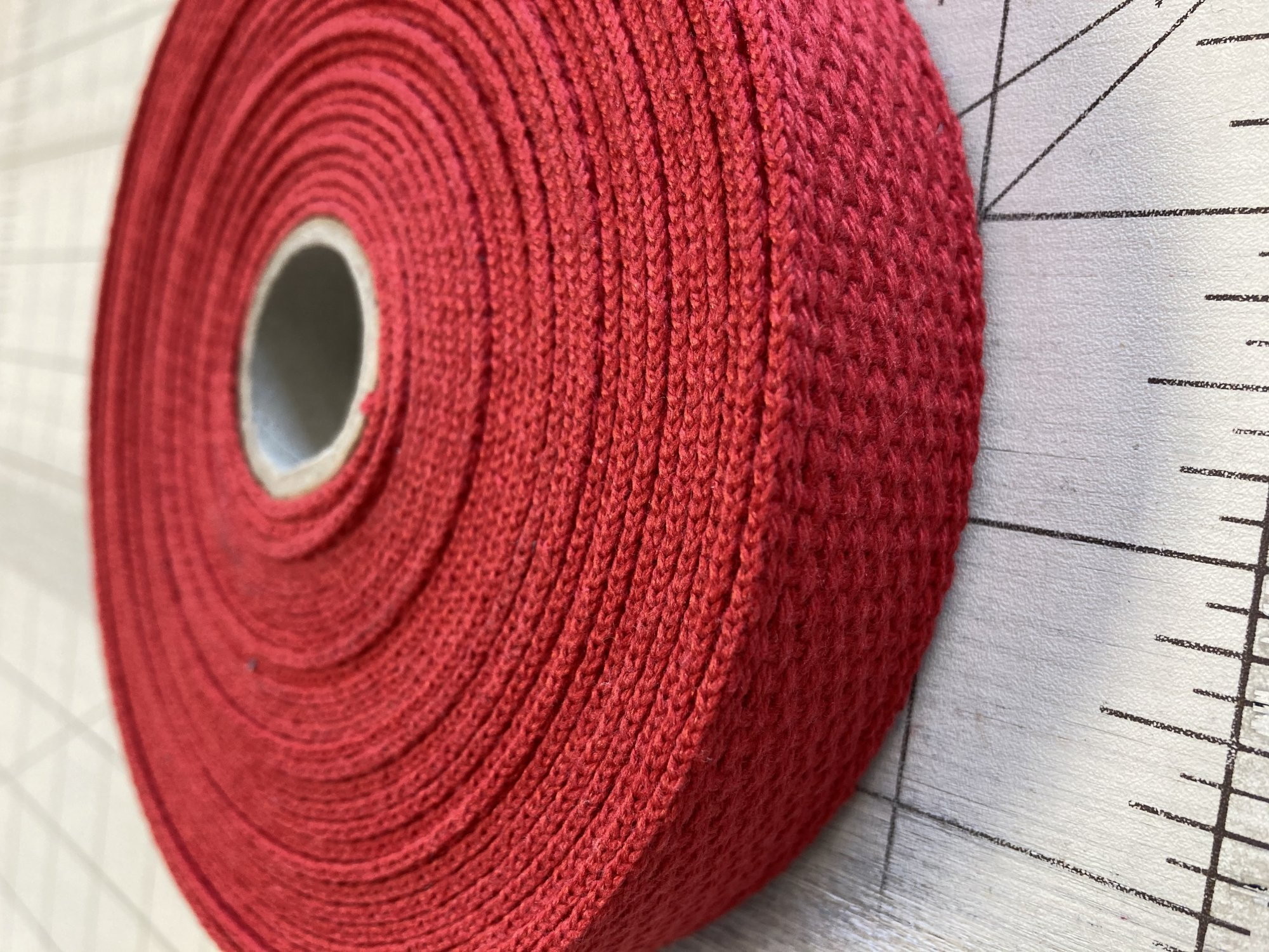 Cotton Webbing  1in Red
