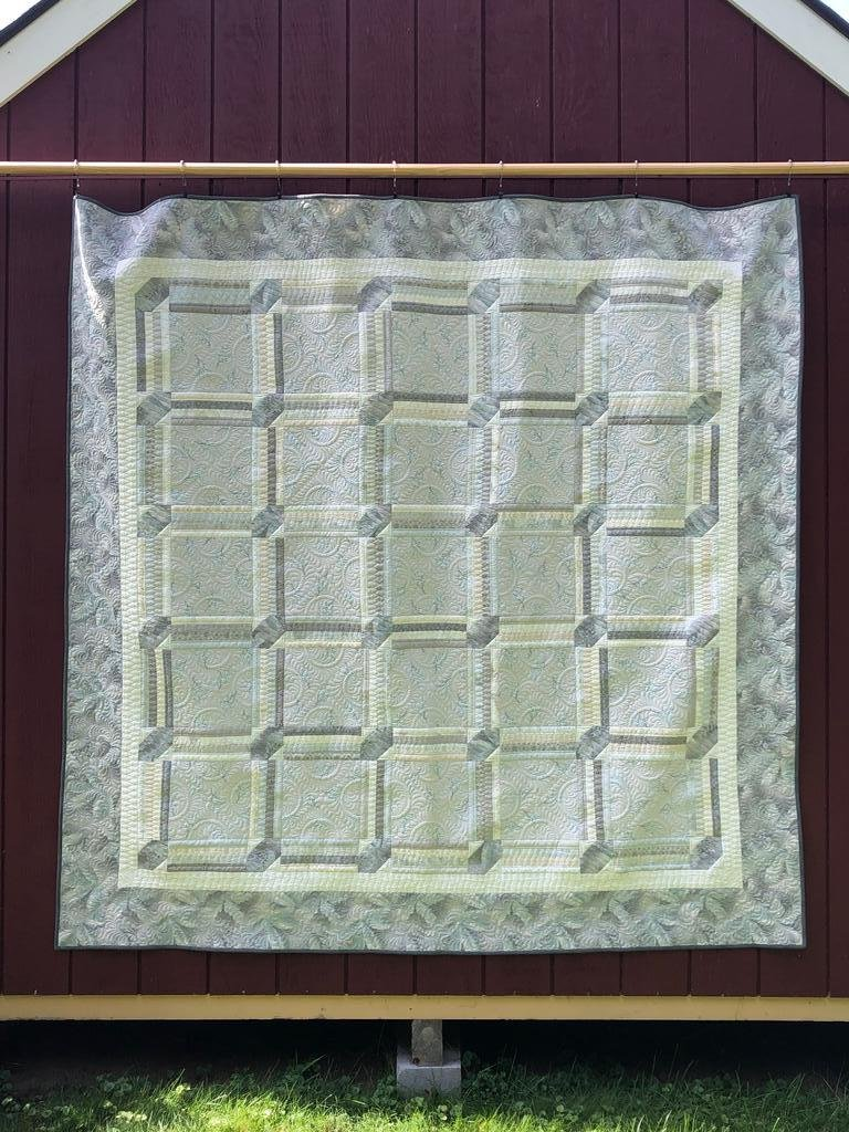 Quilt Basket Wedding Quilt Japanese Taupe Quilt Kit