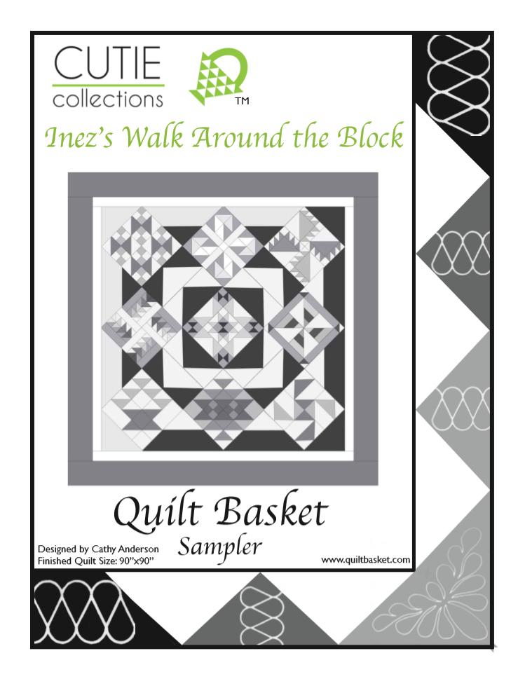 Cutie Pattern Sampler Inez's Walk Around the Block QBSAM-0002