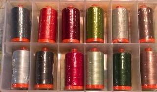 Aurifil Thread Club January through April in Auricase