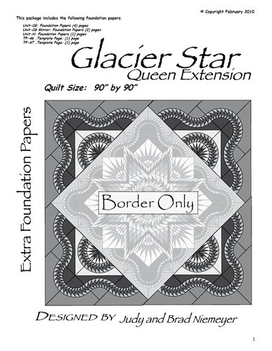 Quiltworx GSTOM Queen Extensions Glacier Star Technique of the Month