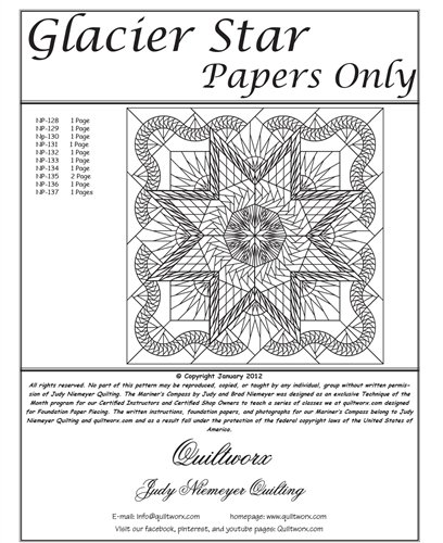 Quiltworx Judy Niemeyer Glacier Star Replacement Papers