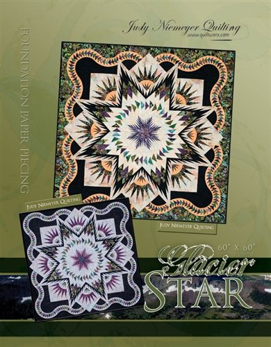 Quiltworx GSTOM Glacier Star Technique of the Month Full Pattern (Excluding Queen Extensions)