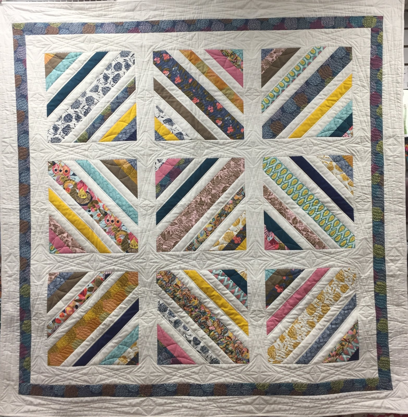 Quilt Basket Lily's Strings Quilt Kit