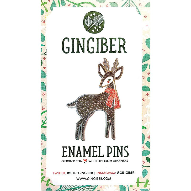Moda Merriment Enamel Pin Deer