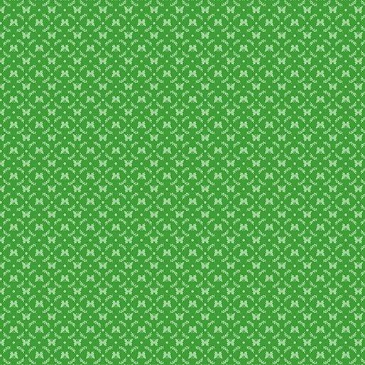 Benartex BUNNIES & BLOSSOMS Mini Butterfly Cameo Green 0969644B