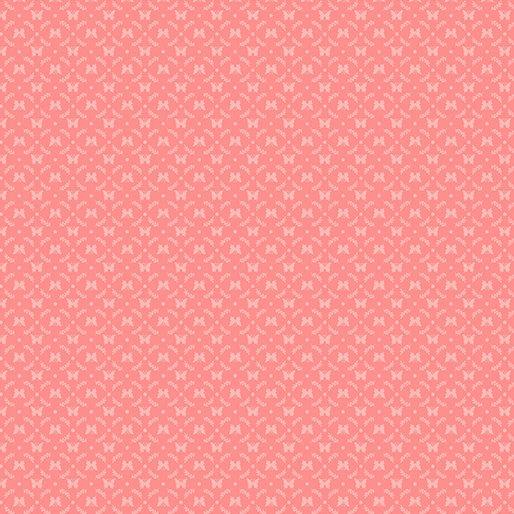 Benartex BUNNIES & BLOSSOMS Mini Butterfly Cameo Med. Pink 0969622B