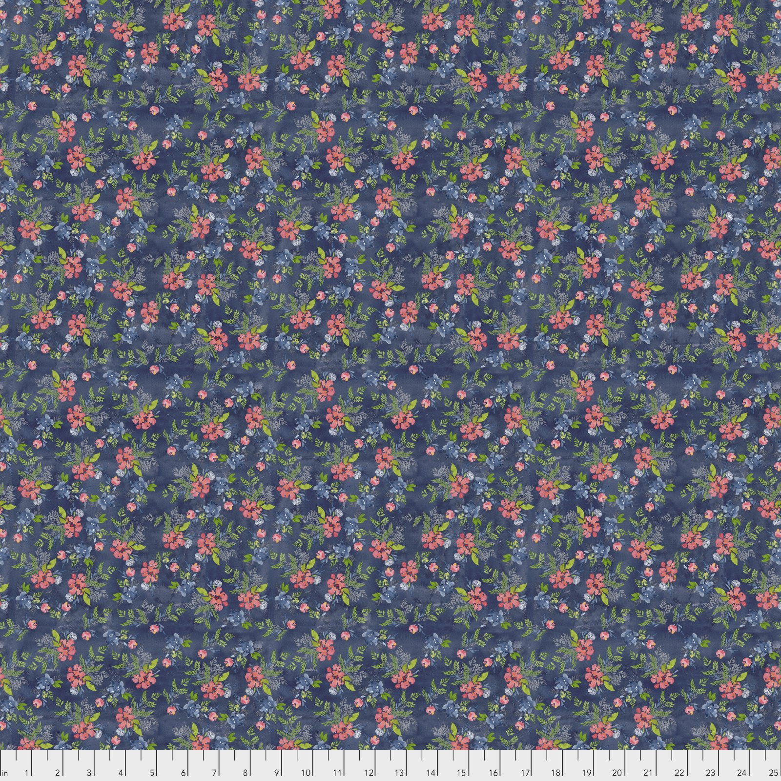 Free Spirit Georgia Blue Digital Print by Natalie Malan PWNM014.NAVYX
