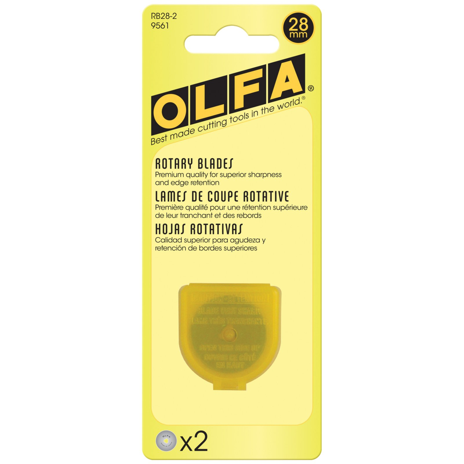 Olfa 28mm Replacement Rotary Blade 2pk