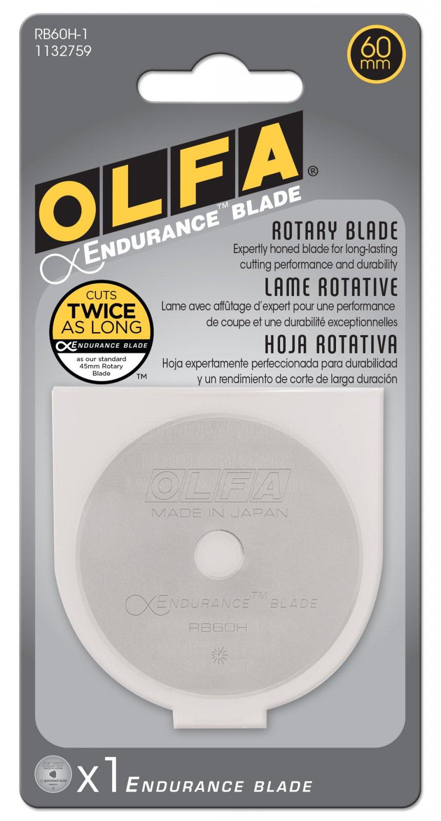 Olfa 60mm Replacement Endurance Rotary Blade 1pk