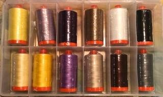 Aurifil Thread Club September through December in Auricase