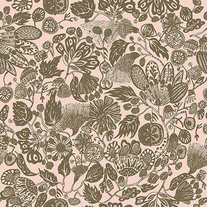 Floral Waterfall Woodcut Pink PWSN003 8PINK