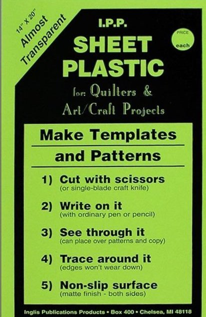 Template Plastic Sheets 14x20
