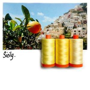 September Aurifil Thread Club - Sicily Yellow