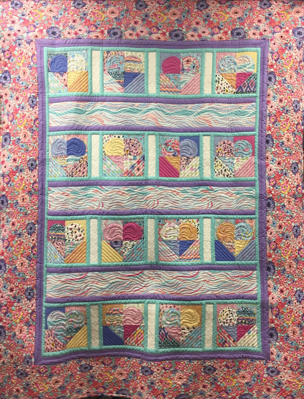 Quilt Basket Sophie's Hearts Quilt Kit
