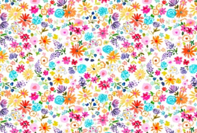 Dear Stella Spring Theory Spring Fling White Stella-DAW1093-White
