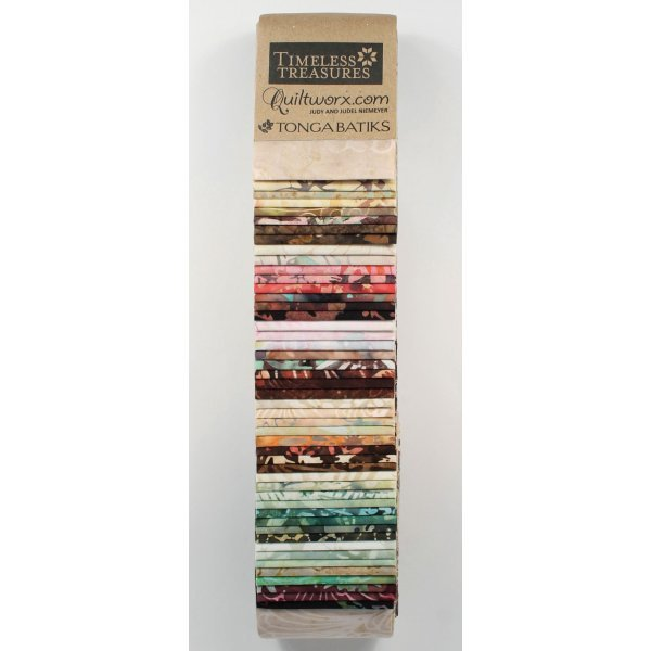 Timeless Treasures Tonga Heirloom Strip Set (2.5 inches x 44 inches)