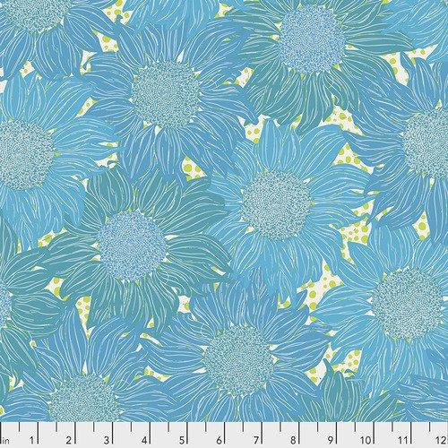 Free Spirit Murmur Sunflower Turquoise PWVW002.TURQUOISE