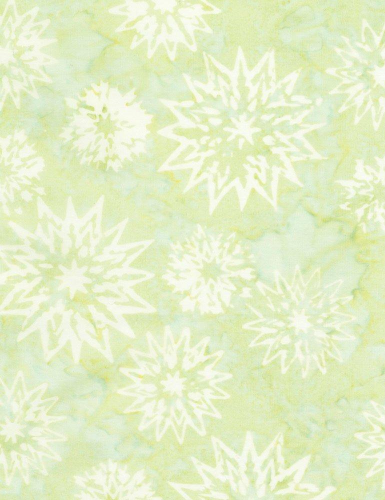 Timeless Treasures Snowflake Mix Batik Tonga-B4007-Sprout