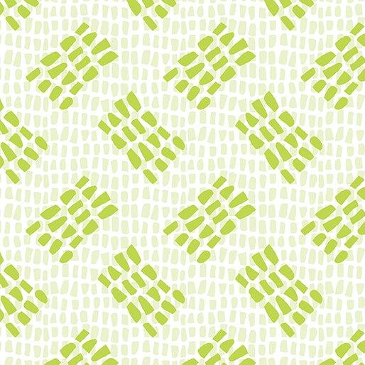 Benartex Abstract Garden TRACKS LIGHT GREEN 3504-04
