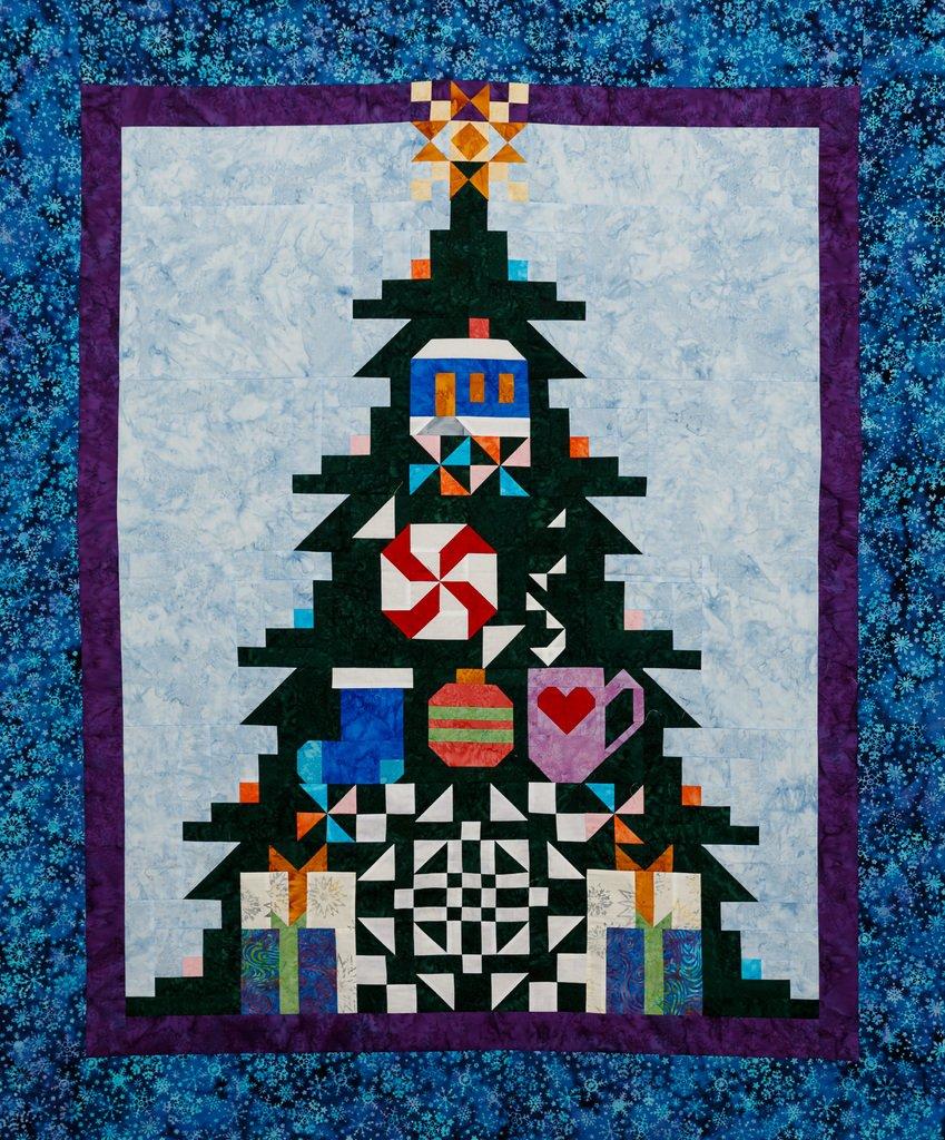 Quilt Basket TreeMendous Joy Batik Quilt Kit