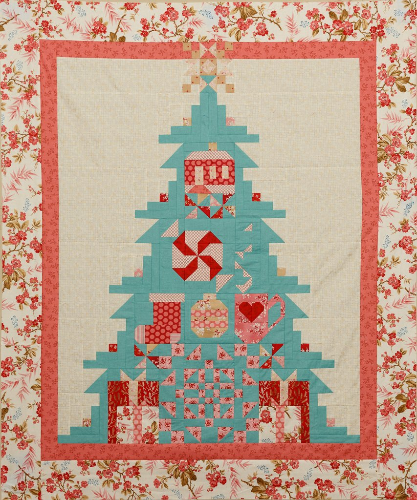Quilt Basket TreeMendous Joy Andover  Little Sweetheart Quilt Kit