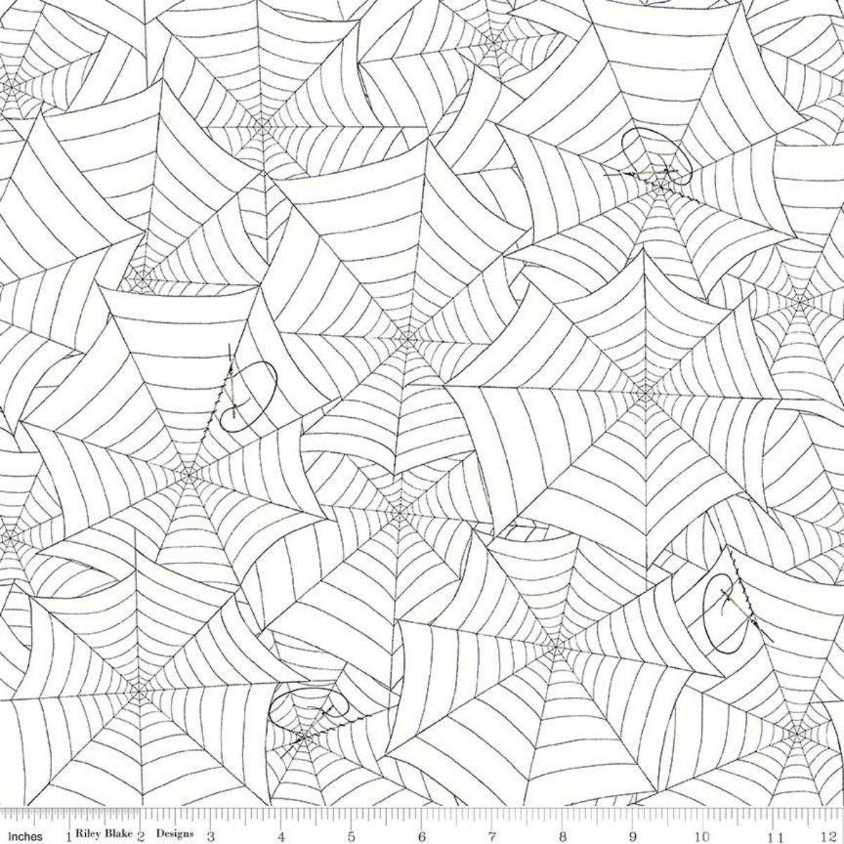 Riley Blake Costume Maker's Ball Webs Cream C8366-CREAM