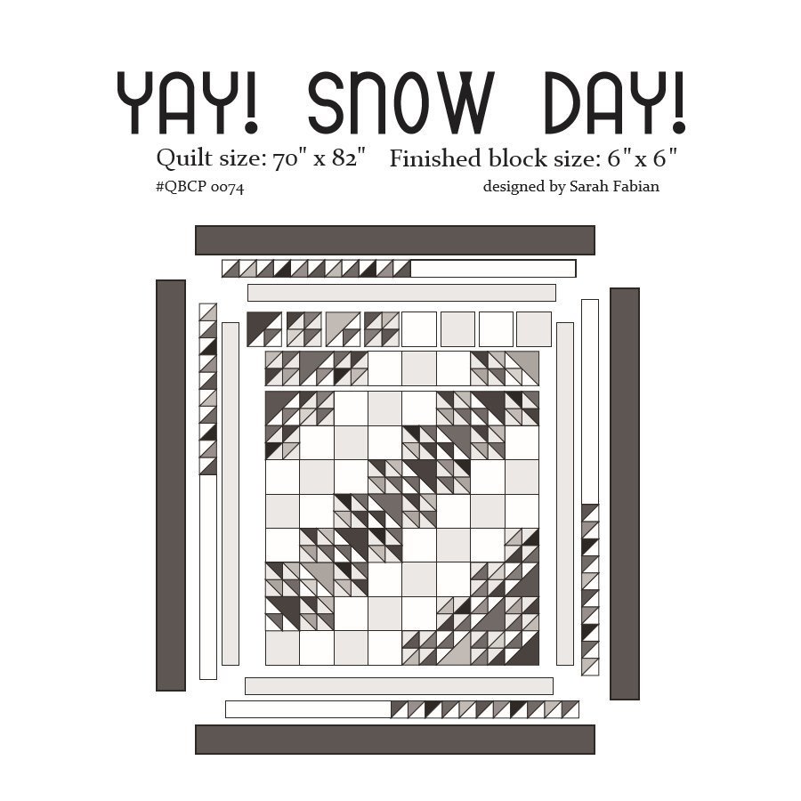 Cutie Pattern Yay! Snow Day QBCP-0074