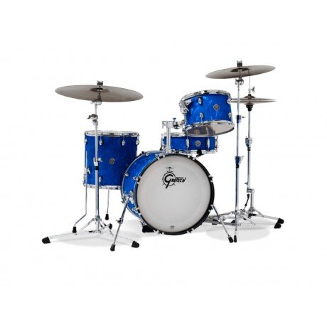 Gretsch Drums Catalina Club Jazz 4-Piece Shell Pack with 18 Bass Drum Blue Satin Flame