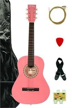 De Rosa DKG36-PK Kids Acoustic Guitar Outfit Pink
