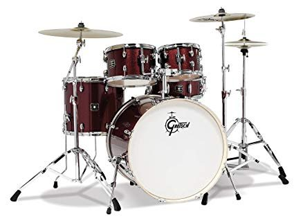 Gretsch Energy 5 Piece Set with Hardware (22/10/12/16/14SN) Ruby Sparkle