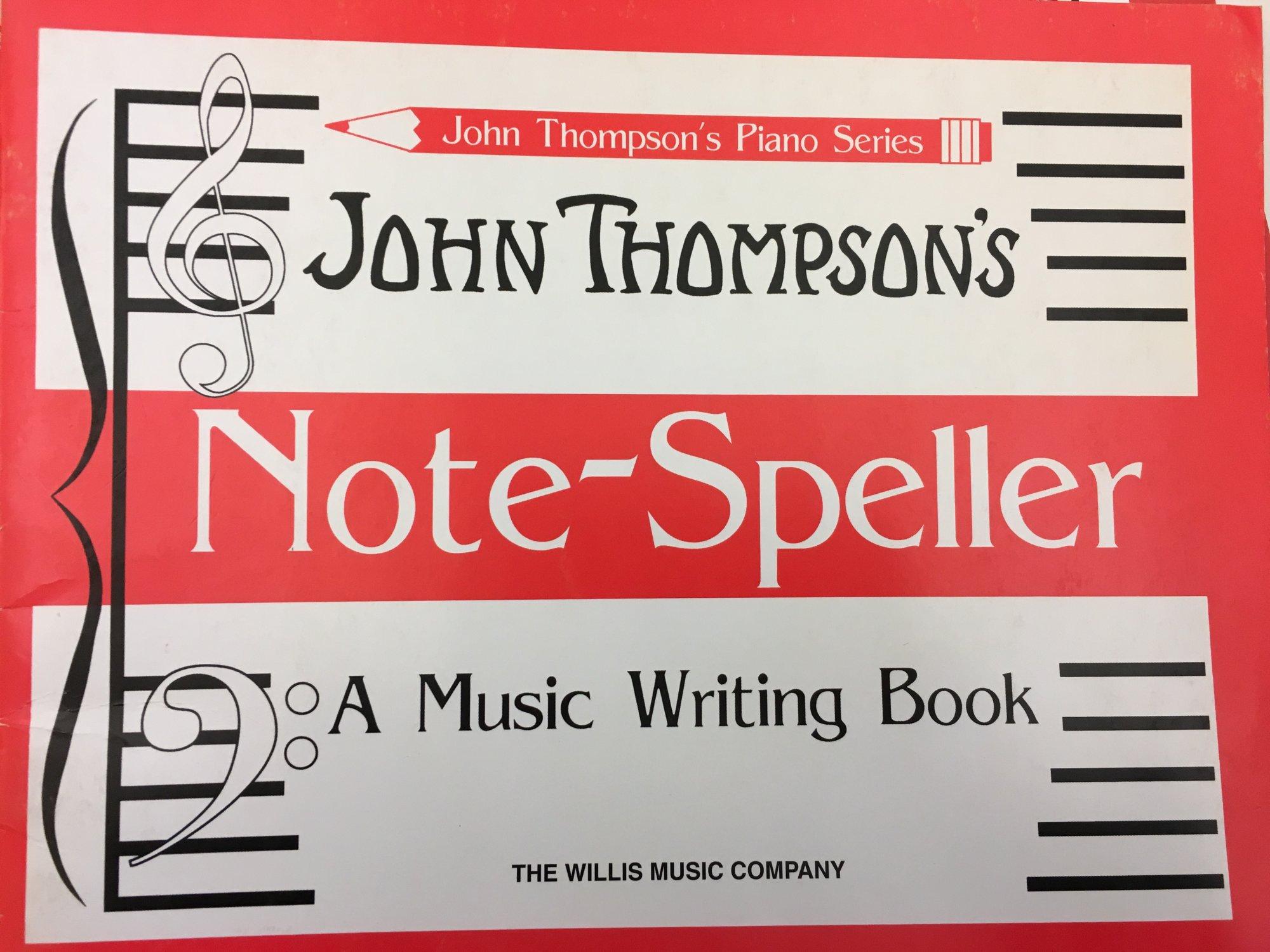 John Thompson's Piano Series Note-Speller